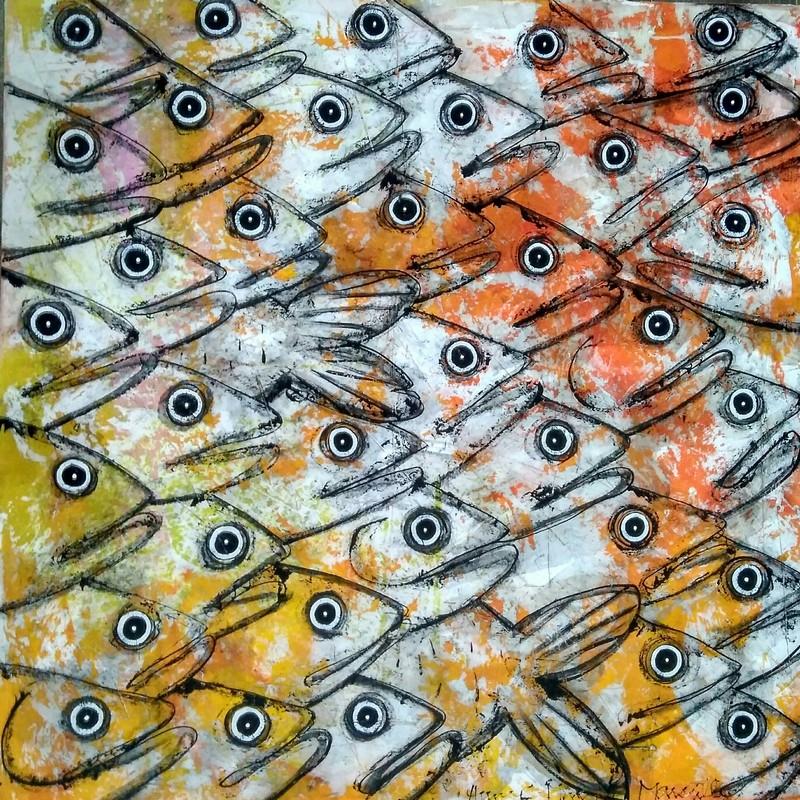 Des poissons - 100 x 100 cm - 1 600 €
