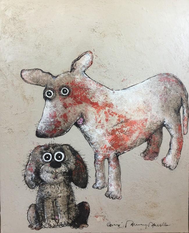 Deux chiens - 81 x 100 cm - 1 500 €