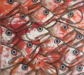Fish 100x100 cm