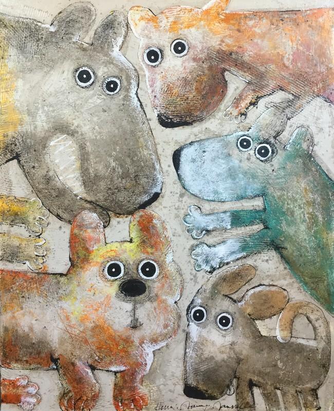 Gang de chiens 3 - 81 x 100 cm - 1 500 €