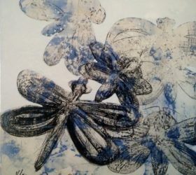 Libellules bleues