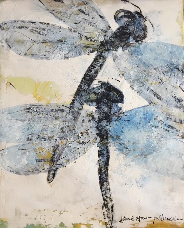 Libellules - 81 x 100 cm