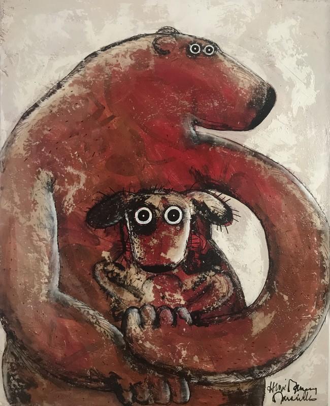 Madone rouge - 81 x 100 cm - 1 400 €