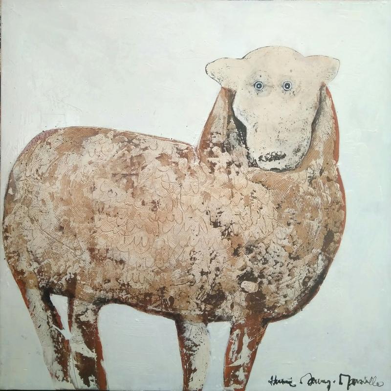 Mouton - 80 x 80 cm