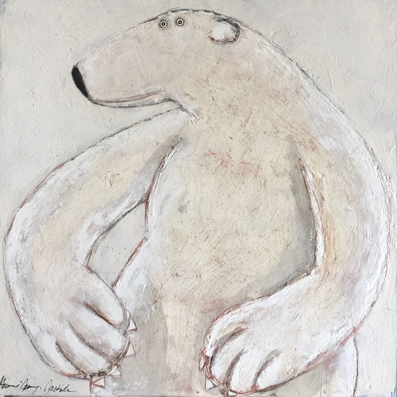 Ours polaire - 100 x 100 cm