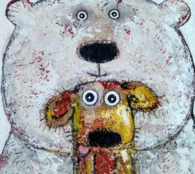 Ours et chien
