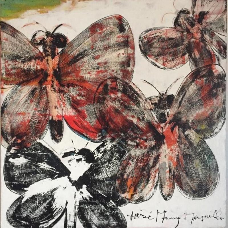 Papillons - 100 x 100 cm