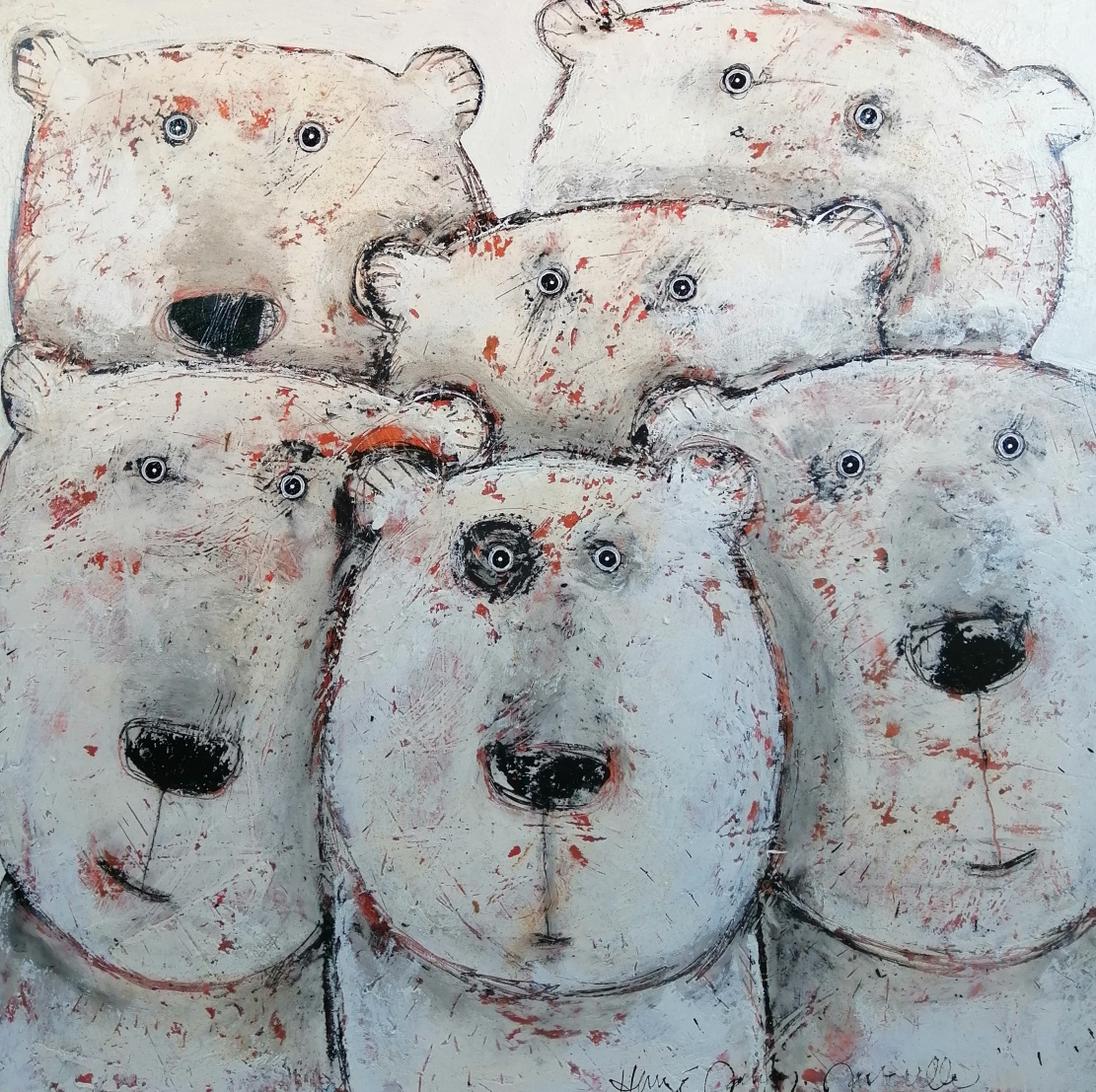 Team ours - 100 x 100 cm - 1 700 €