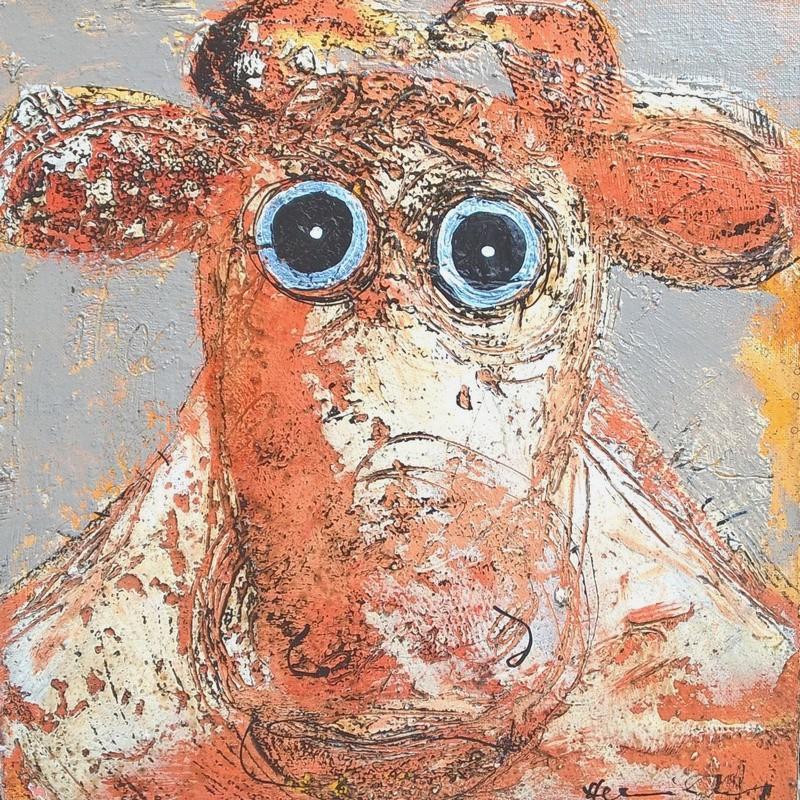 Portrait vache - 40 x 40 cm