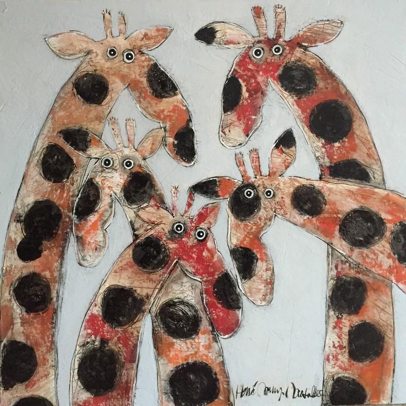 Girafes 100 x 100 cm