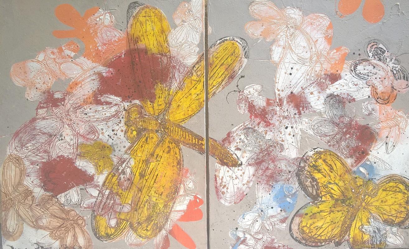 Dyptique insectes - 162 x 100 cm