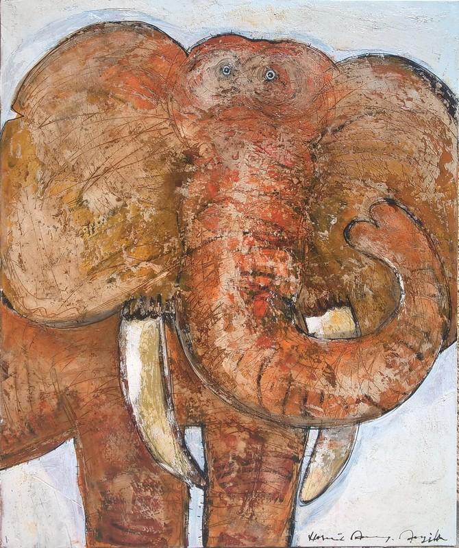 Eléphant - 100 x 120 cm - 1 800 €