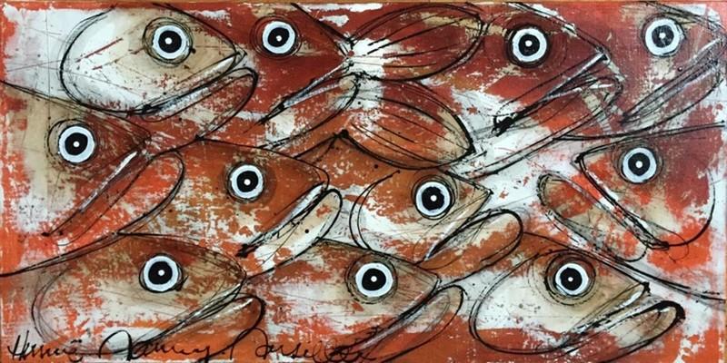 Poissons - 100 x 50 cm