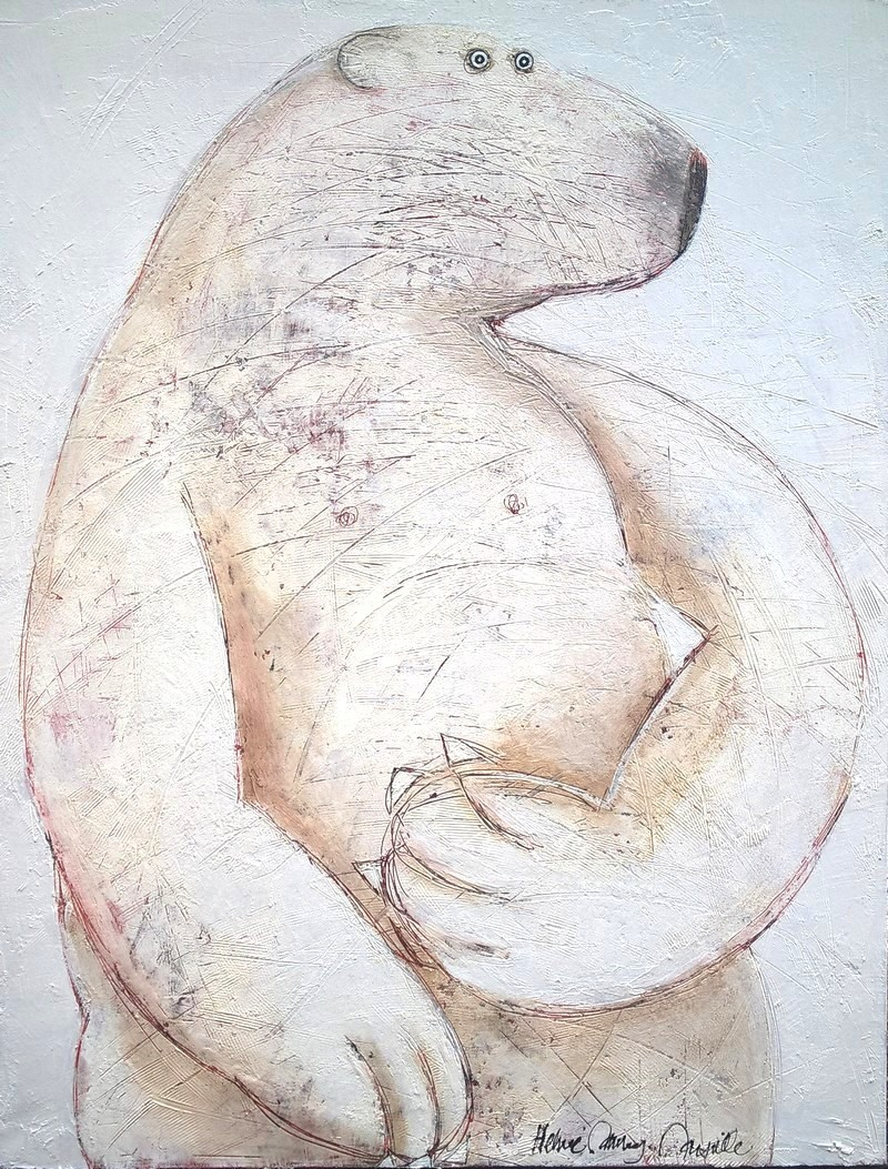 Ours blanc - 89 x 116 cm
