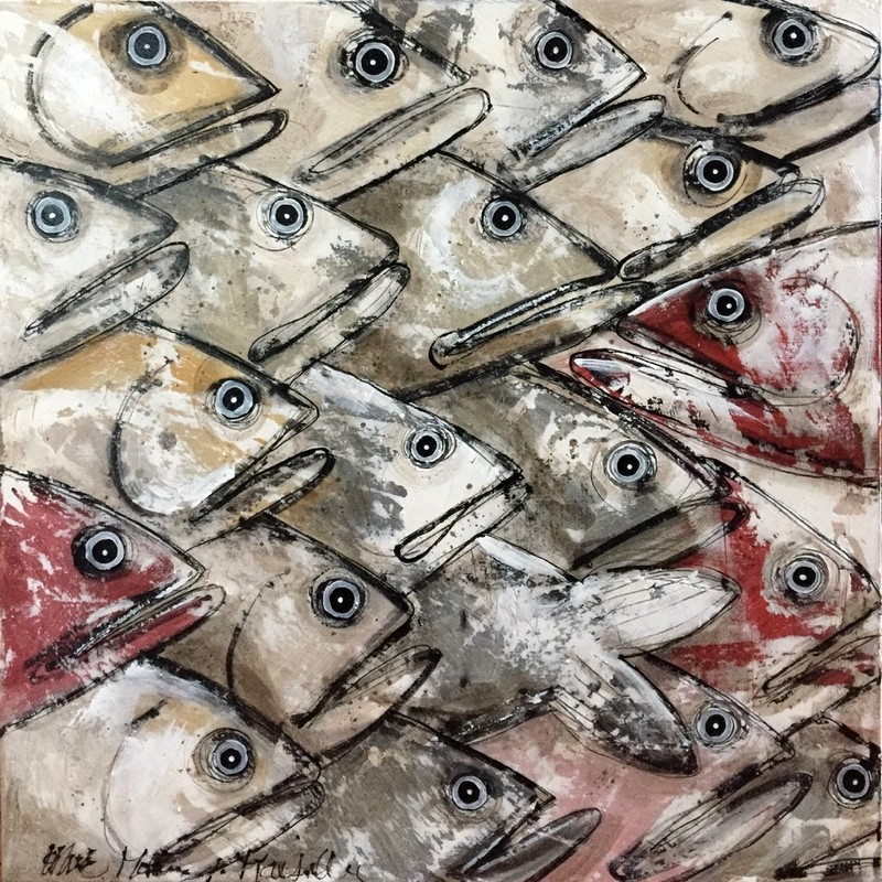 Sardines - 80 x 80 cm