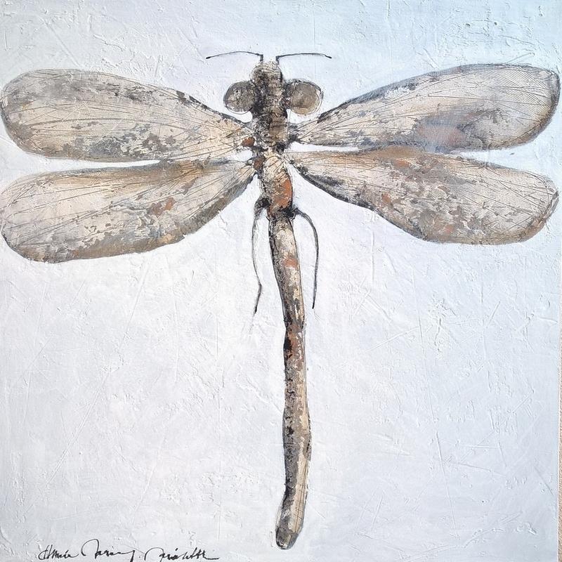 Libellule solo - 100 x 100 cm