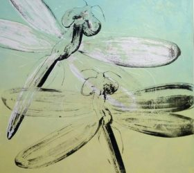 hervé maury - Libellules vertes