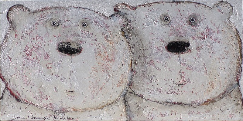 Couple d'ours - 100 x 50 cm - 950 €