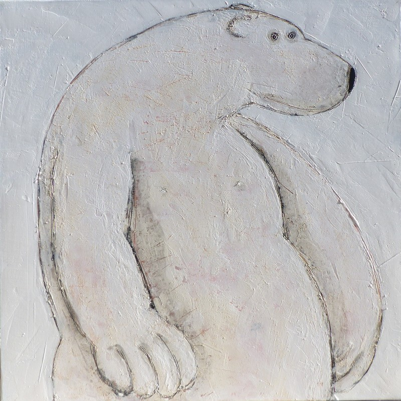 Ours blanc - 100 x 100 cm