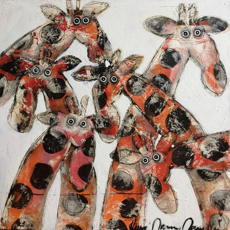Groupe de girafes - 100 x 100 cm - 1 600 €