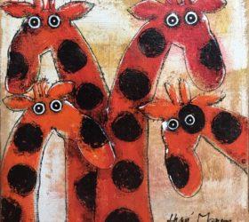 hervé maury - Les girafes