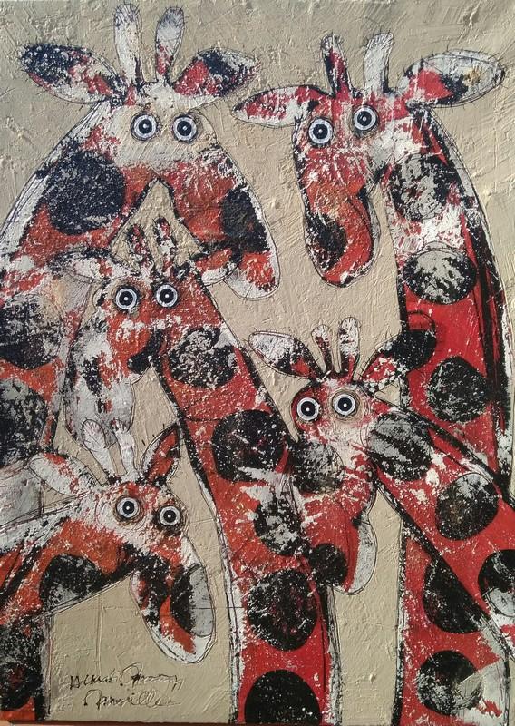 Girafes - 73 x 100 cm - 1 300 €