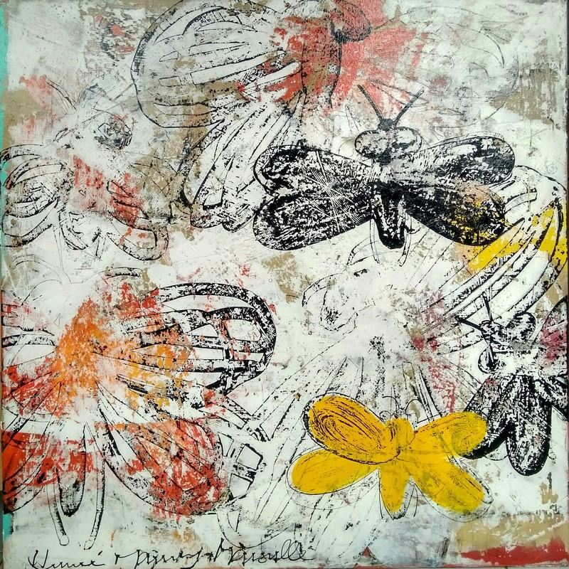 Danse insectes - 100 x 100 cm - 1 600 €