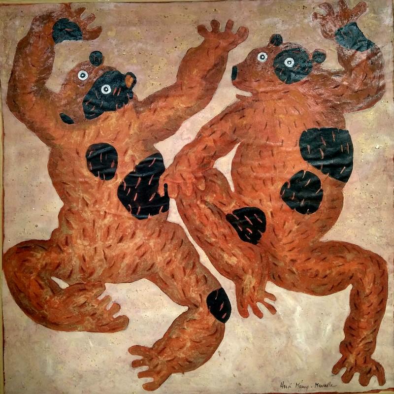 Deux ours (vintage 1998) - 100 x 100 cm - 1 600 €