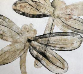 hervé maury - Deux libellules