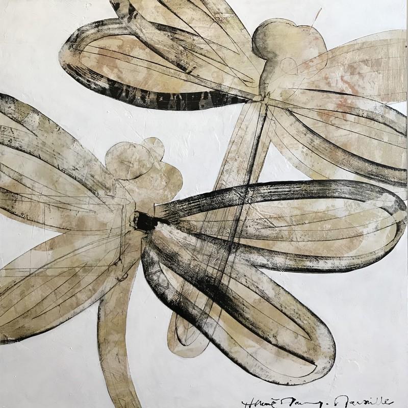 Deux libellules - 100 x 100 cm - 1 600 €