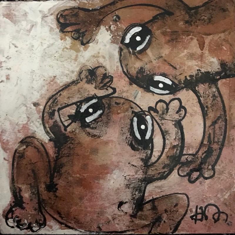 Grenouilles - 20 x 20 cm - 160 €