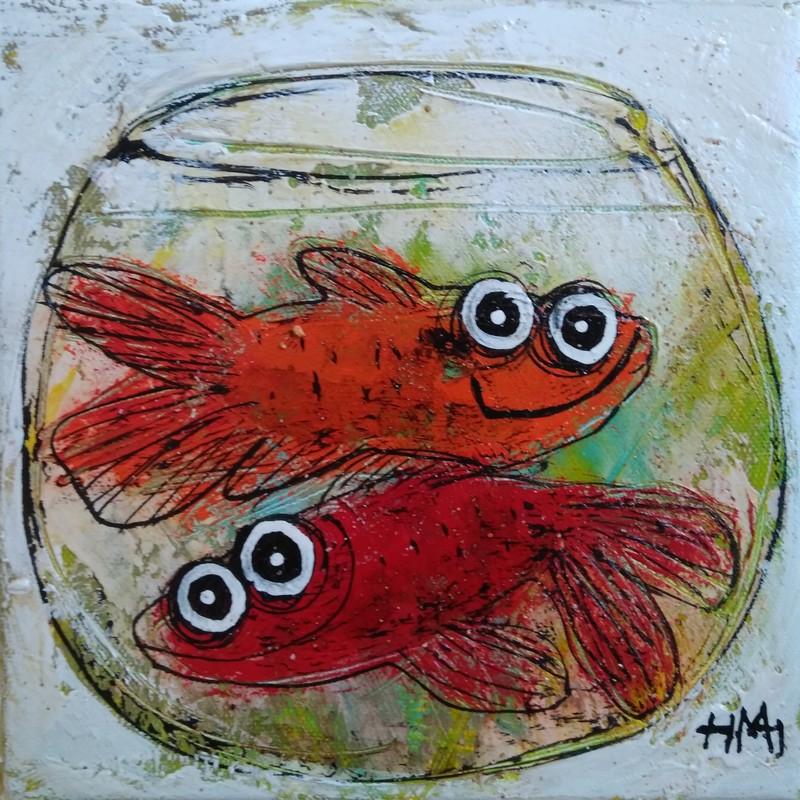 Aquarium double - 20 x 20 cm - 160 €