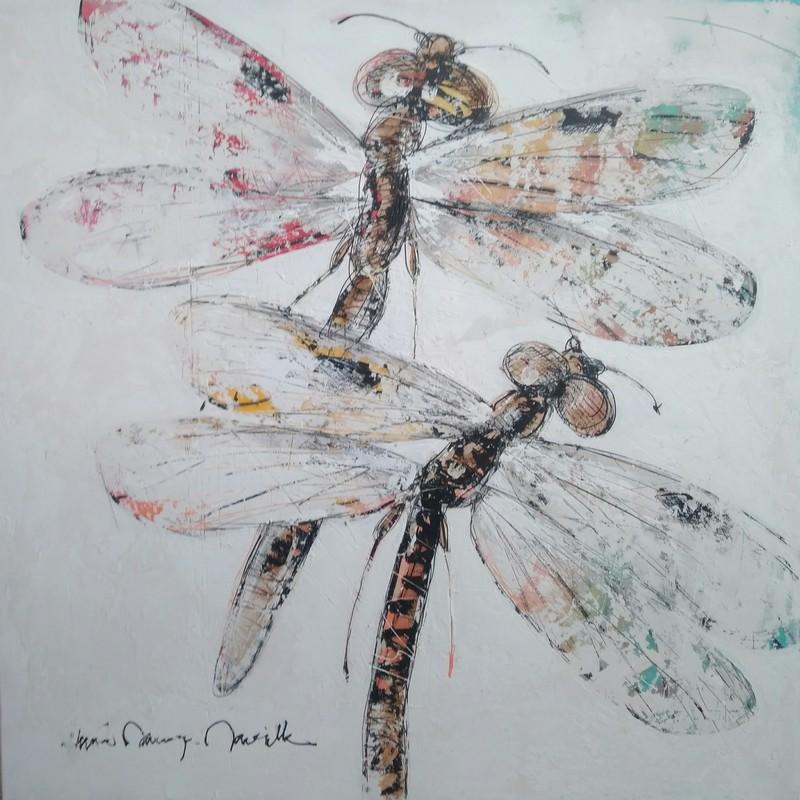 Couple libellules - 100 x 100 cm - 1 700 €
