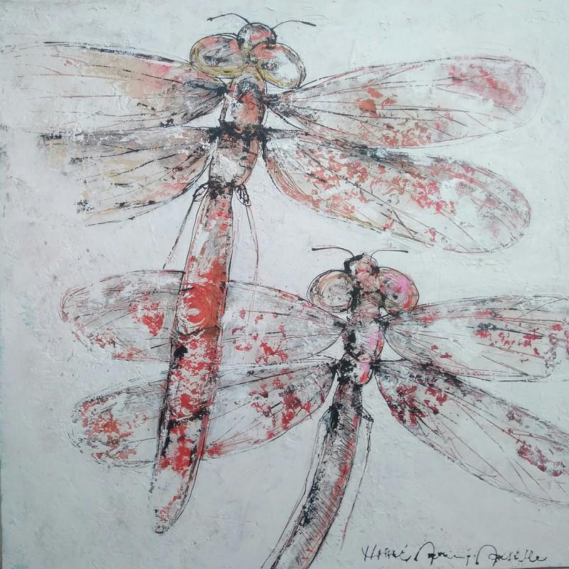 Libellules - 90 x 90 cm - 1 400 €