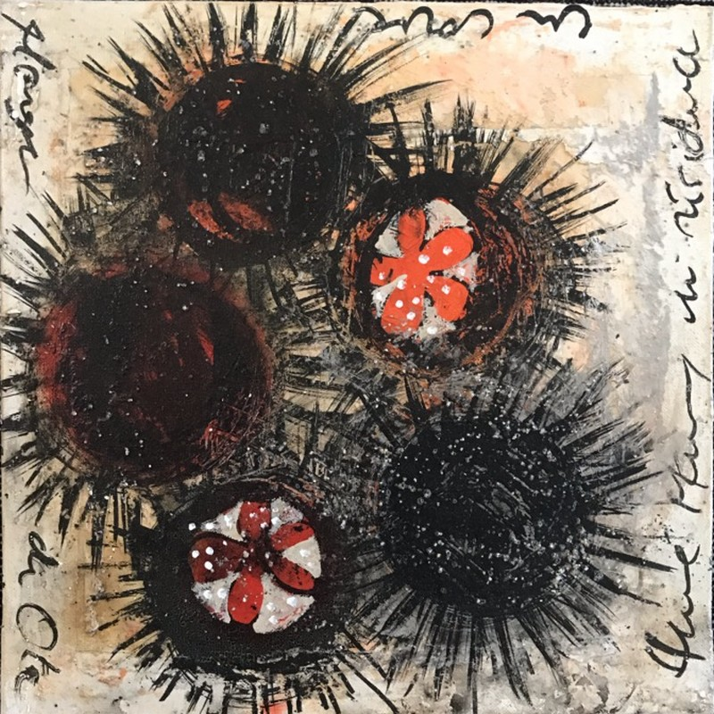 Oursins - 50 x50 cm - 550 €