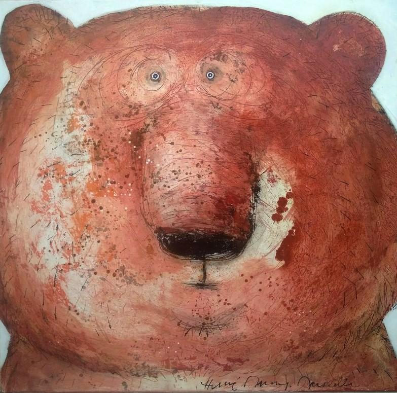 Gueule d'ours brun - 100 x 100 cm - 1 600 €