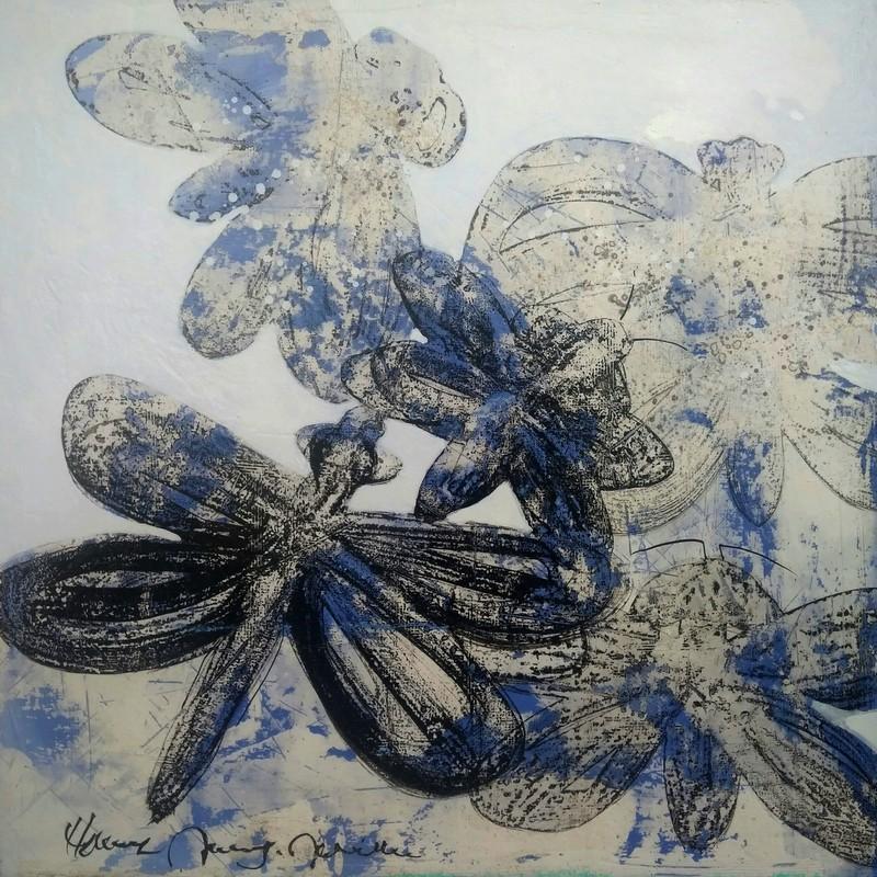 Libellules bleues - 80 x 80 cm - 1 200 €