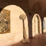 """Oeuvre réalisée pour l'exposition """"Méditerrannée"""" à la Vieille Charitée. Visible actuellement. Acrylique et pigments sur bache."""