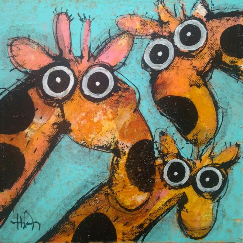 Girafes 2 - 20 x 20 cm - 180 €