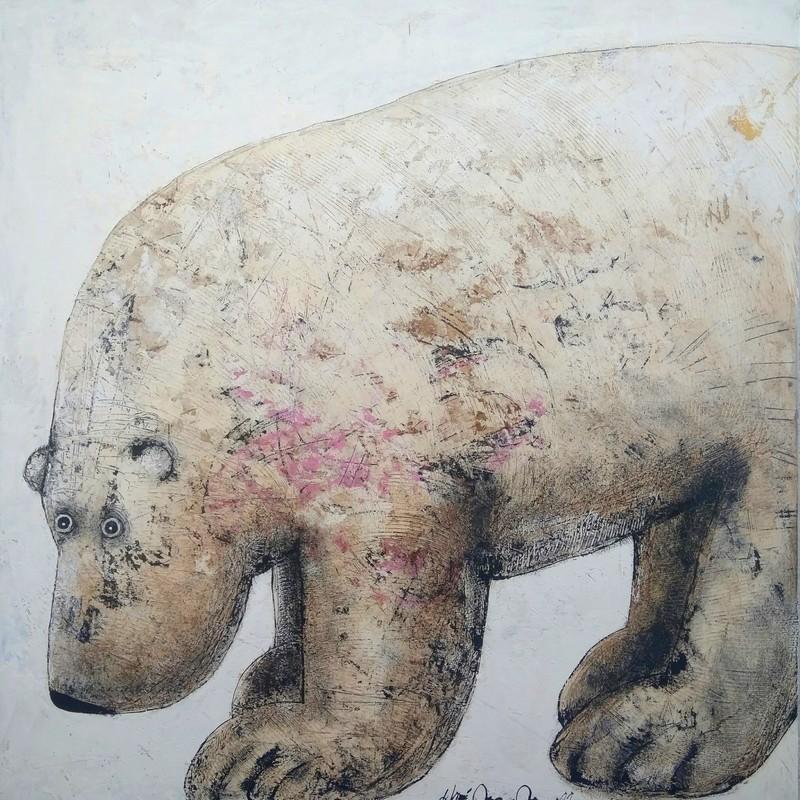 Ours sur pattes - 100 x 100 cm - 1 600 €