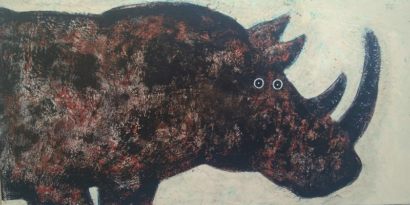 Rhino - 100 x 50 cm - 1 000 €