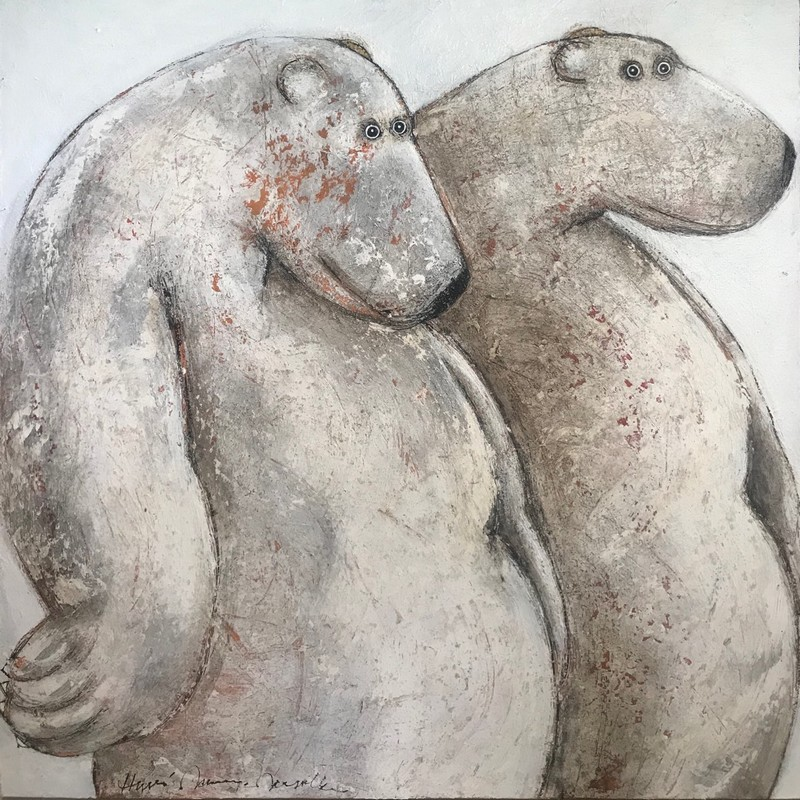 Couple ours - 100 x 100 cm - 1 700 €