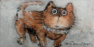 """""""Chat gâté 3"""" - 40 x 20 cm"""