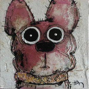"""""""Chien gâté"""" - 20 x 20 cm"""