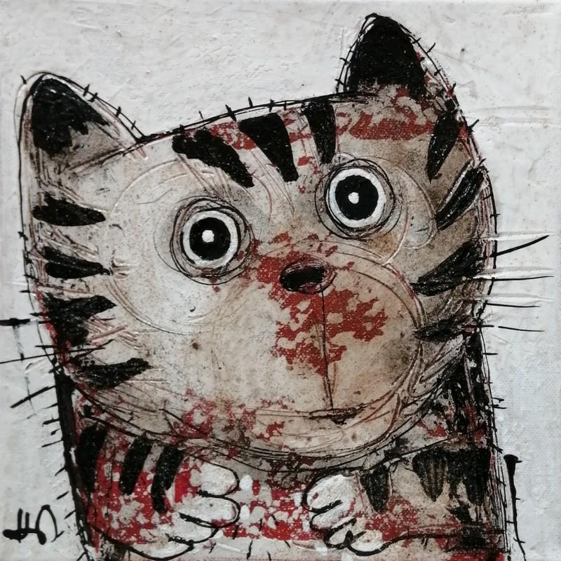 Chat tigré - 20 x 20 cm - 180€
